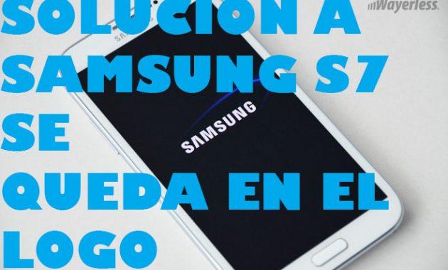 Mi Samsung S7 no prende, se queda en el logo de Samsung