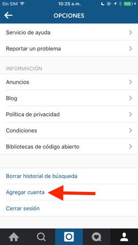 Dos cuentas de Instagram a la vez en Iphone