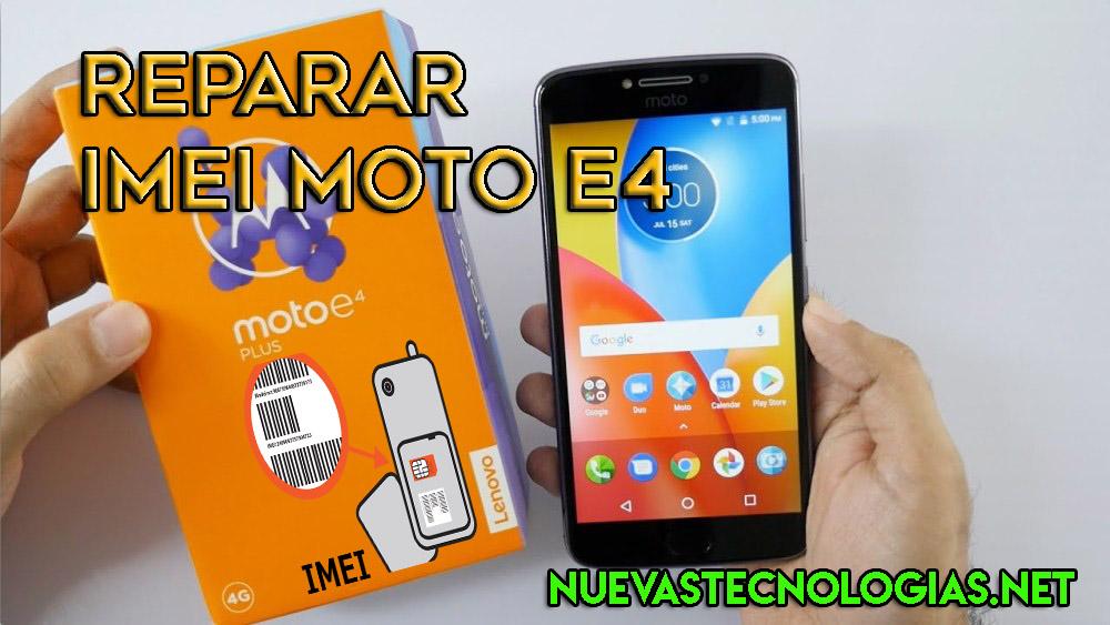 Cómo reparar el imei de un Motorola Moto e4 o Moto e4 Plus